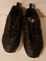 Women Fila DISARRAY 5CM00783-014 Black-White-Red Lace-Up Running Shoes 6.5 US