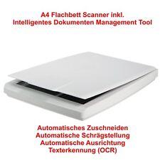 A4 Flachbett-Scanner inkl. Intelligentes Dokumenten Management Tool