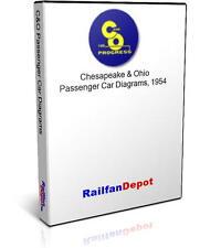 C&O Passenger Car Diagrams - PDF on CD - RailfanDepot