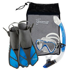 SEAVENGER DIVING SNORKEL SET-Clear Blue-L/XL