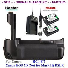 BG-E7 Grip + 2x LPE6 Battery & Charger for Canon LP-E6 and EOS 7D Digital SLR