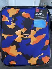 under armour scrimmage lunch box blue/orange camo NEW