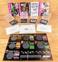 Big Hurt, NBA Action, NFL 95 & NFL Quarterback Club 96 Games for Sega Game Gear