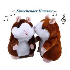 Sprechende Hamster Kuscheltier Plüschtier Spielzeug Talking Toy Hamster Maus Neu