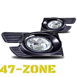 For 1998-2002 Honda Accord Sedan 4 Door Clear Lens Chrome Housing Fog Light Lamp