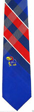 Kansas Jayhawks Mens Necktie College University Logo Gift Plaid Neck Tie New