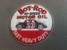 patch thermocollant brodé hot rod motor oil 8cm