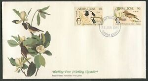 SIERRA LEONE - 1985 'WARBLING VIREO (FLYCATCHER)' First Day Cover [C3245]