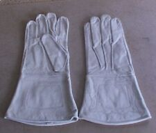 Leather Gauntlets, White, Civil War period, New