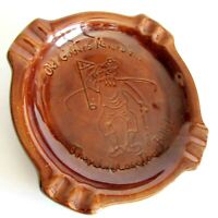 "Golfing Ashtray Old Golfers Never Die Vintage Glazed Ceramic 6.75""  FREE SH"