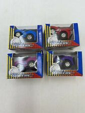 4 Nickel Racer Toy Cars Pull Back Action