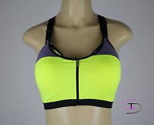 NWT Victoria's Secret VSX ZIPPERED Crossback Sport Fitness Yoga Bra 36D  AA224A