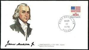 FLEETWOOD SIGNERS OF THE CONSTITUTION SERIES - JAMES MADISON, JR. - CACHETED