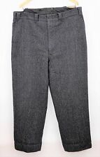 VINTAGE WOOLRICH Heavy Thick Wool Blend Gray Hunting Pants - WARM - MEN'S 42