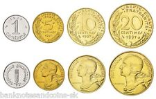 FRANCE PRE EURO COIN SET 1+5+10+20 Centimes 1962-1997 UNC UNCIRCULATED LOT of 4
