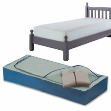 Large Under Bed Clothes Bedding Organiser Bag Box Easy Access Zip Duvet Pillows