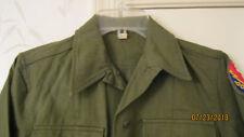 Original US Army WW2 Women's WAC HBT OD Field Shirt Sz Small