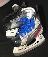 Boys Ice Hockey Skates Bauer Vapor (As Is) 2 Left Skates, Sizes US 1.5 & US 2.5