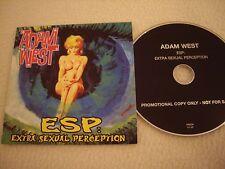 ADAM WEST - ESP: Extra Sexual Perception - Promo CD People like you Rec. 2008 NM