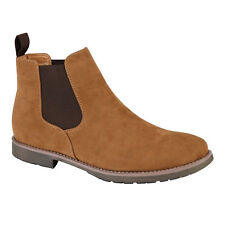 Men's Faux Formal Desert Work Casual Dress Ankle Chelsea Boots Shoes UK Sizes