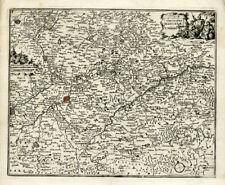 Antique Map-Henegouwen-Belgium-Fr ance-Bachiene-1758
