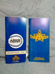 Seattle Mariner's Media Guides 1978 Media Guide & 1982 Hardball Guide
