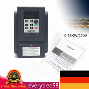 0.75KW VFD Frequenzumrichter Einphasig Variable Frequency Driver Inverter USED!!