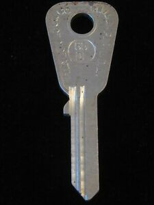 "S62DP KEY BLANK ""FP"" 1960's British Leyland Wolsely Anglia Aston Martin Prefect"