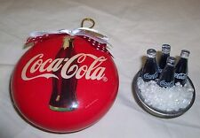 COCA COLA Soda Coke Unbreakable ORNAMENT Ice Bucket BOTTLES Dollhouse Prop LOT