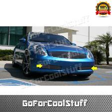 For 2003 2004 2005 2006 2007 Infiniti G35 2 Door Coupe 2Pcs Bumper Billet Grille