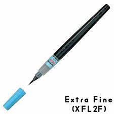 NEW Pentel Shaped Fude Brush Pen Black Ink Extra Fine Nib XFL2F Japan