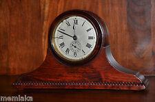 RARE tedesco Gustav Becker in legno alarm mantle clock desc intorno al 1900 (0999)