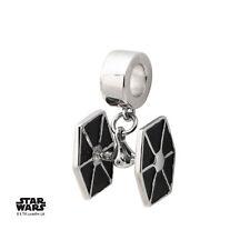 Disney 925 Sterling Silver Star Wars Tie Fighter Dangle Bead Charm