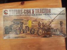Airfix  1:76  WW II  40mm Bofors Gun & M0rris Tractor & 5 Figuren