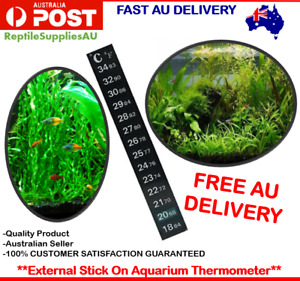 Aquarium Thermometer Fish Sticker Temperature Strip Dual Scale External Stick On