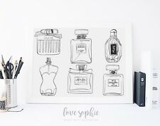 Chanel Dior Perfume Bottle A4 Fashion Illustration Print Wall Art Poster Gift