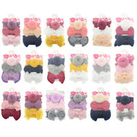 3Pcs Baby Infant Girl Bow Stretch Headband Toddler Turban Knot Hair Band Gifts