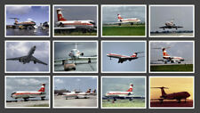 INTERFLUG TUPOLEW / TUPOLEV TU-134 POSTKARTENSERIE - SET MIT 12 KARTEN (12 PC)