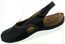 Dr Andrew Weil Sandals Lucia Black Soft Footbed Orthaheel Slingback Womens US 8
