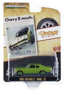 "Chase 1968 CHEVROLET NOVA SS ""VINTAGE AD CARS"" 1/64 DIECAST GREENLIGHT 39050 A"