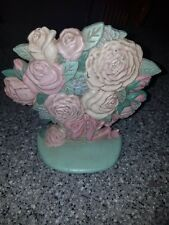 Cast Iron Door Stop Pot Of Flowers midwest importers
