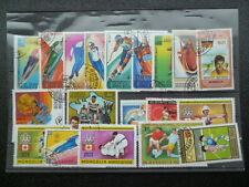 Ein Lot Briefmarken von der Mongolei gestempelt