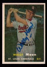 1957 Topps #65 Wally Moon AUTOGRAPHED SIGNED St. Louis Cardinals FREE SHIPPING!