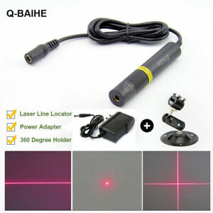 Red 648nm 650nm 50mW Laser Dot Line Cross Diode Module with Adapter & Holder