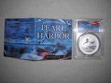 CASE 2016 PEARL HARBOR SILVER 1 OZ COIN PCGS MS70 HIGH GRADE SLABBED COIN LOT 20