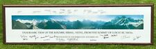 More details for huge signed everest panoramic print by tom bebbington with 15 signatures