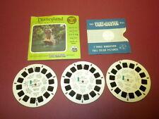 DISNEYLAND - ADVENTURELAND (853ABC) Viewmaster 3 reels PACKET SET vintage