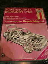 FORD ESCORT & MERCURY LYNX 1981-1990 AUTO REPAIR MANUAL