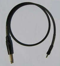 """UpScale Sennheiser Wireless Canare GS-6 Locking 1/8"""" to  1/4"""" Cable - Black 3FT"""