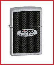 Zippo Name in Flame Lighter, Satin Chrome, 24035, +Wick +Flints